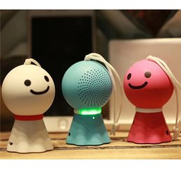 Wholesale Doll Small Box - Small Sunny Doll, Mini Wireless Bluetooth speaker, portable lovely card subwoofer notebook small stereo radio boombox