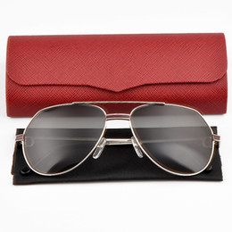 Wholesale designer gems - HOT New Metal Frame Sunglasses Gem embellishment Brand Designer Men Women Beach Sun glasses UV Protection Brown Lens With Original Box
