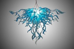 Wholesale Cheap China Outlets - China Facotry Outlet Blown Glass Chandeliers Lighting Dale Chihuly Styled Coloured Murano Glass Cheap and Smart Chain Chandeliers