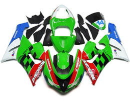 Wholesale Zx6r White Red - New Motorcycle Fairings Kit For Kawasaki ZX6R ZX-6R 05 06 Ninja 636 2005 - 2006 ABS Covers Fairing Cowling Black white red blue green