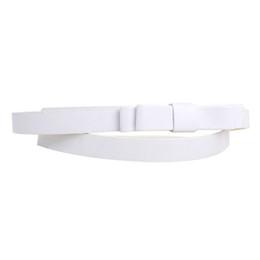 Wholesale thin white leather belt - Wholesale- Compact White Bow Thin Women PU Casual Leather Belt Waistband Female Straps Cute Ladies Cummerbund Dress Decor Gift Hot Sale