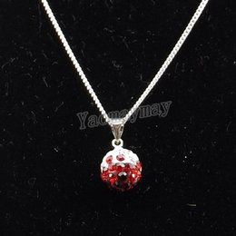 """Wholesale Disco Ball Gradient - Wholesale 12pcs lot 8 Gradient Colors Disco Ball Rhinestone Pendant 18"""" Silver Plated Chokers Free Shipping"""