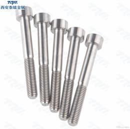 Wholesale Din912 Socket Cap Screw - 5pcs lot M5 x 50mm DIN912 Ti color Titanium Ti Screw Allen Hex Socket Cap Head Bolt+Washer