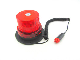 Wholesale Red Flashing Beacon Light - DC12V High power Magnetic Mounted Warning flash beacon Strobe Emergency light Police lights Red Color