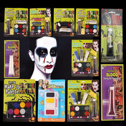 Wholesale Face Paint Palette - Halloween Tattoo Face Body Paint Oil Painting Art Non-toxic Water Paint horror make up palette Party Makeup vampire zombie Face Painting Set