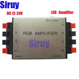 Wholesale Led Aluminum Channel Shipping - Free shipping High quality DC12-24V 144W 4A Channel Aluminum RGB LED Amplifier CE RoHS for LED Strip Light 3 channels