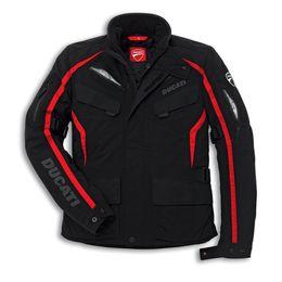 Ducati giacca in tessuto Tour 14 giacca moto nera da ginocchiere in nylon fornitori