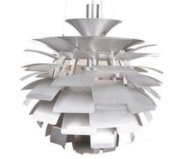 Colgante de alcachofa ph online-Wonderland Thousand Leaf Lámpara de alcachofa Lámpara colgante Luz blanca / plateada / roja Lámpara PH Diseño de estilo casero creativo para sala de estar