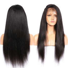 Wholesale Brown Virgin Hair Natural Straight - Passion Lace Front Human Hair Wigs For Black Women 150% Density Virgin Brazilian Straight Lace Wig With Baby Hair Around
