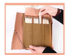 Wholesale Pirates Makeup - South Korea stationery retro pirates buried treasure map imitation leather pen bag Pen curtain makeup bag pencil bags