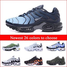 Wholesale Mens Leather Walking Shoes - Discount Brand New Hight Quality Men's Air Sport TN Running Shoes Mens Fashion Runners Training Sneakers Walking Shoes Cheap Sale