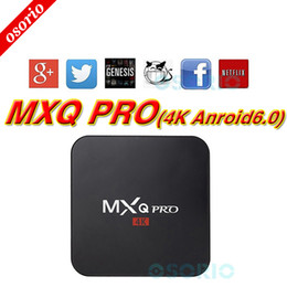 Wholesale Pc Full Hd - 1 PCS Factory MXQ Pro Android 6.0 TV Box RK3229 Set Top Box 4K Ultra HD Quad-core Streaming Media Player Full Loaded Support WiFi HDMI2.0