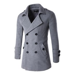 Wholesale Double Breasted Korean Suit - Wholesale- In autumn and winter, 2016 new men's clothing, casual suit jacket, double breasted, nylon fabric, Korean slim, size: M-2XL