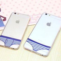 Wholesale Unique Cell Phone Covers - Fashion Unique Design Underwear Pattern Soft Clear Cell Phone Cases For iPhone Briefs 7 7 Plus 6 6s Plus 5S Lovers Couple Clear Phone Cover