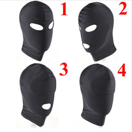 Wholesale Leather Gimp Hoods - Fetish Unisex BDSM Hood Leather Sex Mask Blindfolded, Adult Erotic Games, Head Restraints Bondage Halloween Gimp Sex Toys For Couples