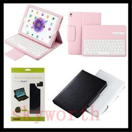 Wholesale Ipad Keyboard Bluetooth Pouch - Removable ABS Wireless Bluetooth Keyboard For Samsung Galaxy Tab S3 T820 T580 T560 T550 T350 T710 T810 ipad Pro 10.5 leather case