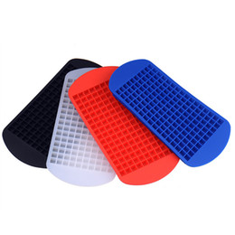 Wholesale Cream Makers - 160 Grids DIY Creative Small Ice Cube Mold Square Shape Silicone Ice Tray Fruit Ice Cube Maker Bar Kitchen Accessories 0702262