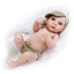 Wholesale Real Boy Doll - Wholesale- 11inch Handmade Boy Infant Doll Mini Boy Real Look Reborn Baby Kids Toys Wedding Gifts Decorations