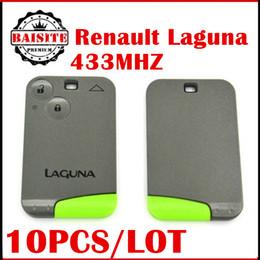 Wholesale Renault Card 433mhz - Professional Renault Laguna remote key card 10pcs lot Laguna 2 Key Card 433MHz Renault Smart Laguna Card Key with best quality