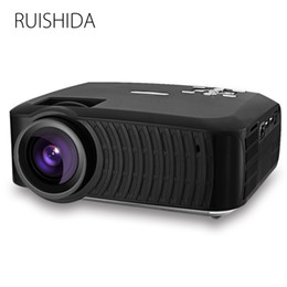 Wholesale hdmi spdif - Wholesale-Hot RUISHIDA M3 Android 4.4 Projector 3000Lumens Bluetooth 4.0 Support Wifi Miracast Airplay SPDIF SD USB RJ45 Proyector Beamer