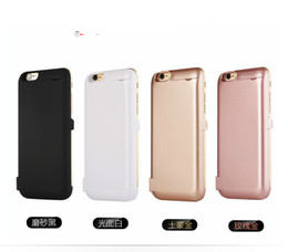 Wholesale Mobile Power Shell - Iphone6 6s plus 5 5s back clip battery Apple special charging treasure wireless mobile power supply mobile phone shell