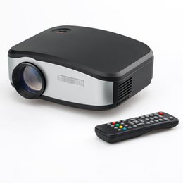 Wholesale Iphone Tv Hd - Wholesale-DHL C6 Hd Mini Portable LED Projector for Home Theater Cinema Movie Night Video Tv Gaming Kids Toy MHL Ipad Iphone 6 6s