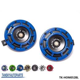 Wholesale Horn Speaker 12v - Tansky -1Pair 12V 11DB Universal Grille Mount Twin SuperTone Electric Car Horn For BMW Audi VW Car TK-HOM052