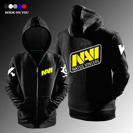 Wholesale Steelseries Navi - Wholesale- Ukraine SteelSeries navi hoodie natus vincere Team men's hoodie fleece Cardigan jacket zipper casual sweatshirt
