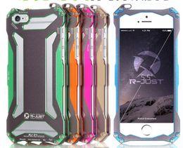 Wholesale Bumper Iphone Aluminum Orange - Phone Case For iPhone 5 5S SE 6S & 6S Plus Cover Phone Cases Ultra Thin Gundam Outdoor Aluminum Metal Shockproof Frame Bumper Case
