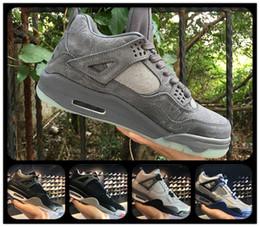 Wholesale Money Cool - 2018 Retro 4 Toro Bravo Men Kaws Cool Grey Basketball Shoes Royalty Retro IV 4 Motorsport Sports Shoes Pure Money Size:41-47