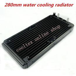Wholesale Laser Cpu - Wholesale- 280mm water cooling radiator for Chip CPU GPU VGA RAM Laser cooling cooler Aluminum Heat Exchanger