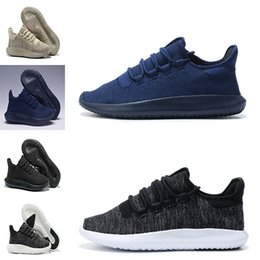 Wholesale Flat Cardboard - New Tubular Shadow man and women Running Shoes Knit Core Black White Cardboard Tubular Shadow 3D 350 Boots Training Shoes us 5-10