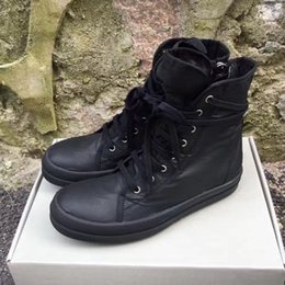 Wholesale Top Quality Work Boots - TPU perfume sole original quality 17ss DRKSH*W full Black wax canvas Boot luxury owen lace-up shoes only top quality