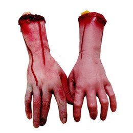 Кровавый Хэллоуин террор руки Хэллоуин ужас реквизит рука дом с привидениями украшения День дурака реквизит MOQ:2шт от Поставщики ведра тыквы хэллоуина оптом