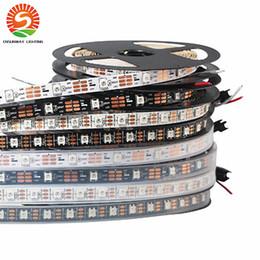 Wholesale Ws2812b Led Strip - WS2812b RGB Led Strip Light 30LEDs m 60LEDs m 5V Black Or White PCB 5050 Waterproof WS2812 IC Digital Strips Light Dream Color