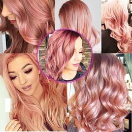 Wholesale Human Hair Pervian Body Waves - 1B Rose Gold human Hair 7A Ombre Peruvian Virgin Hair Body Wave Extensions 3 Bundles Pervian Body Wave Human Hair Weaves