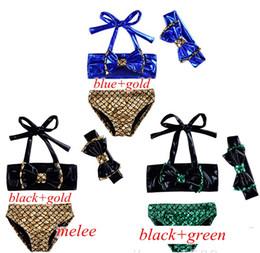 Wholesale Swimwear Three - INS New Girls Mermaid Swimwear Kids Swimming Bikinis Set Three Pieces Baby Girls Bathing Suit Baby Girls Mermaid Swimwear Bathing Suit