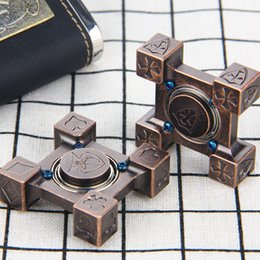 Wholesale 12 Bearing - 2018 NewestSteel Flame Hand Spinner R188 Steel Bearing Poker  Crusader Type Decompression Toy Fidget fingertips spiral fingers Adults Stress