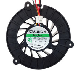 Wholesale 12v Computer Fans - Free Shipping Good Working High Quality Computer Case Fans Coolings For SUNON GC125025VH-A 12V 2.0W Notebook Fan