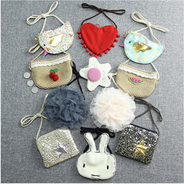 Wholesale Child Cloth Cotton Fabric - Multi stysle mini patchwork bag cartoon cloth shoudler bag flower sheep rabbit satchel bag sweet clothing accessories for baby and children