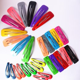 Wholesale Wholesale Hair Plastic Snaps - Wholesale- 10 Pcs lot Solid Candy Color Baby Girls Hair Clips BB Clips Snap Band Hairpins Toddler Kids Hair Accessories