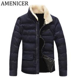 Wholesale Mens Winter Down Coats Sale - Wholesale- Hot Sale 2016 Men Casual Parka Fashion Mens Down Jackets slim fit Brand Clothing Button Quilted Russian Winter Coats Zipper