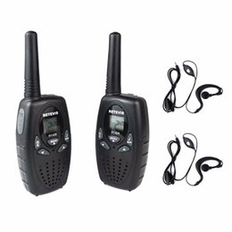 Wholesale Hf Portable Transceiver - Wholesale- 2pcs Walkie Talkie Kids Radio RETEVIS RT628 0.5W UHF 446MHz EU Frequency Portable Hf Transceiver Ham Radio+2pcs earpiece A1026B
