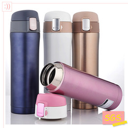 Wholesale Stainless Steel Thermos Free Shipping - Wholesale- SGS 500ml Thermos Cup Stainless Steel Bottle Vacuum Flasks Thermoses garrafa termica infantil my bottle thermo free shipping