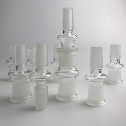 Wholesale 14mm male adapter - New Glass Adapter Fit Oil Rigs Glass Bong Adapter 14mm Male to 18mm Female Bong Adapters Glass Adapters Free Shipping