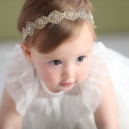 Wholesale Hair Bands Diamonds - Fashion New Newborn lace diamond Headband Infant Hair Bands baby girls Hair ribbon Childrens Accessories Baby Gift A398