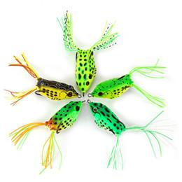 Wholesale Crankbait Bodies - 5pcs lot HOT Sale Topwater Frog Hollow Body Soft Fishing Lures Crankbait Bass Hooks Baits Tackle 12g 5.5cm 5 Color Free Shipping