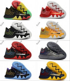 Wholesale Cheap Soccer Balls - Free Shipping 2017 Kyrie Irving 4 Basketball Shoes for Top quality Cheap Wolf Grey Mens Sports Training Basket Ball Sneakers Size 40-46