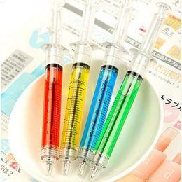 Wholesale Plastic Nurse - Nice Doctor Nurse Gift Liquid Syringe Injection Ballpoint Pen Ballpen G642