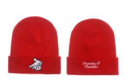Wholesale Beanie Crooks - Crooks & Castles Beanie Hat Pistol Knit Beanies Hats Men Women Popular Warm Winter Wool Cap Skull Caps